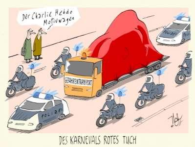 karneval charlie rotes tuch
