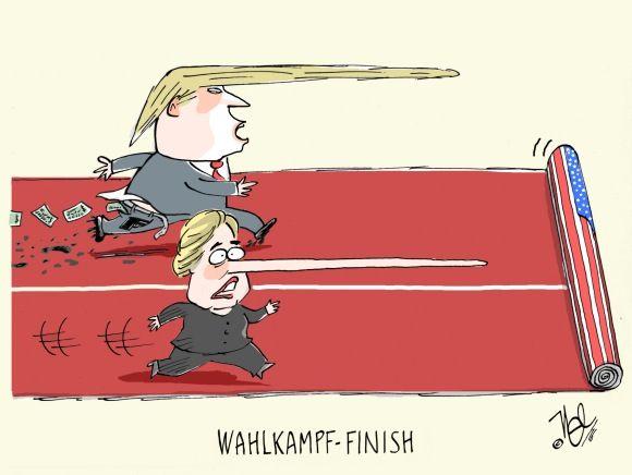 usa wahlkampf finish
