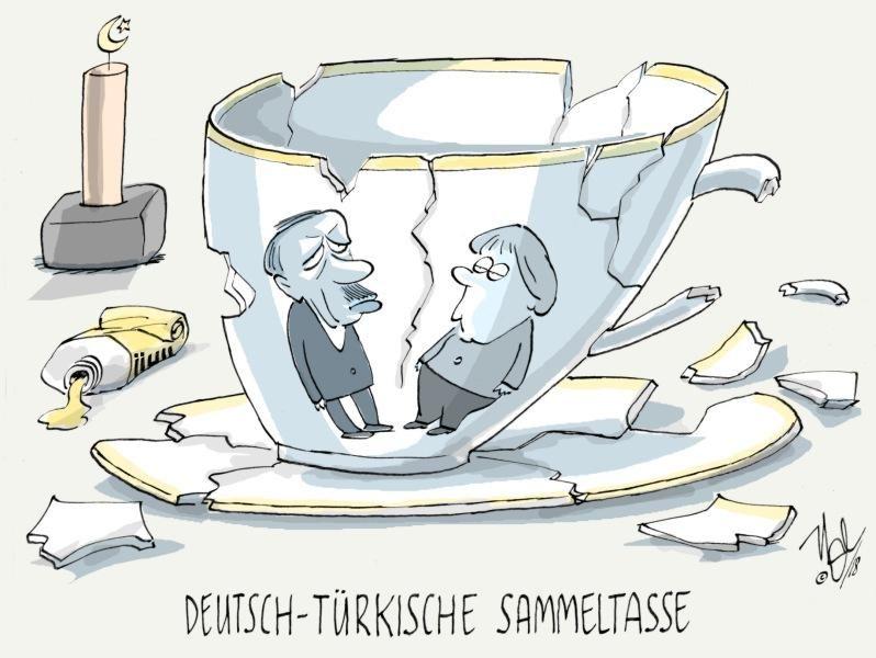 merkel erdogan deutsch türkische sammeltasse