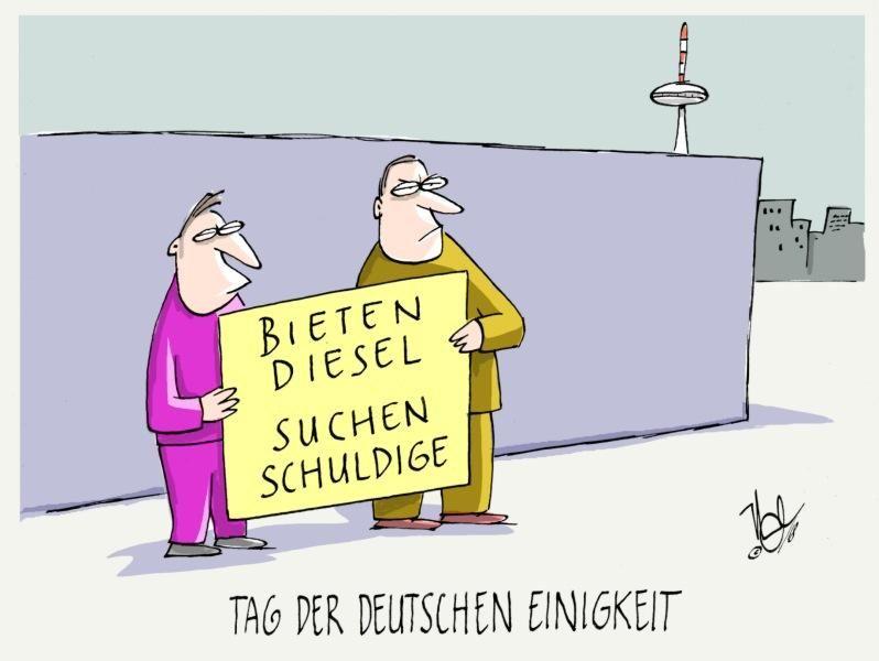 deutsche einigkeit bieten diesel suchen schuldige