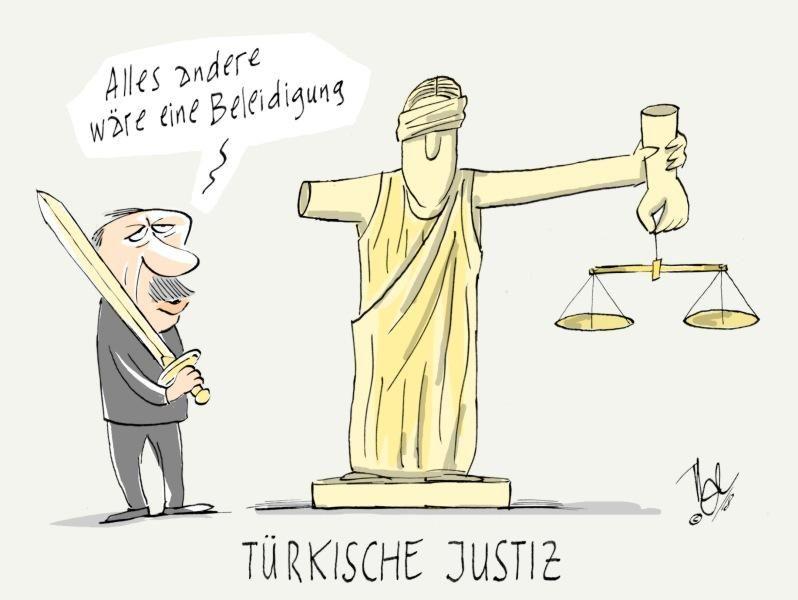 türkische justiz erdogan beleidigung