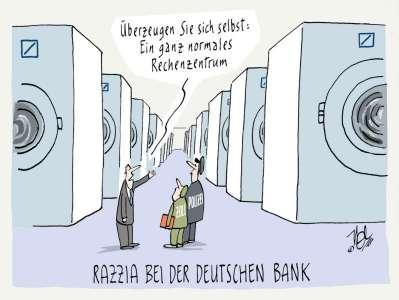 deutsche bank razzia rechenzentrum geldwäsche