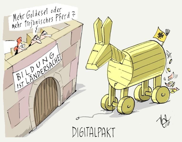 digitalpakt bildung trojanisches pferd goldesel