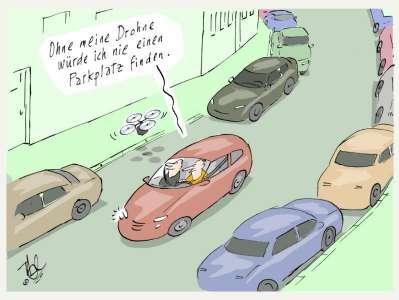 parkplatz problem drohne
