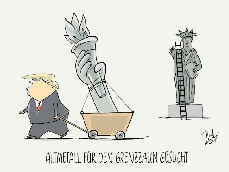 trump grenzmauer grenzzaun altmetall gesucht