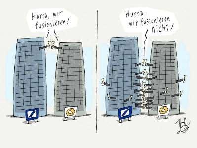deutsche bankcommerzbank hurra keine fusion
