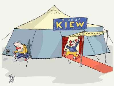 ukraine wahl präsidenten clown zirkus