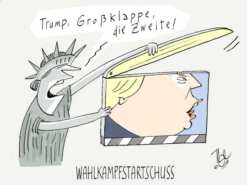trump großklappe wahlkampf startschuss