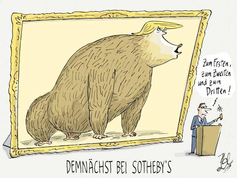 banksy sothebys trump auktion