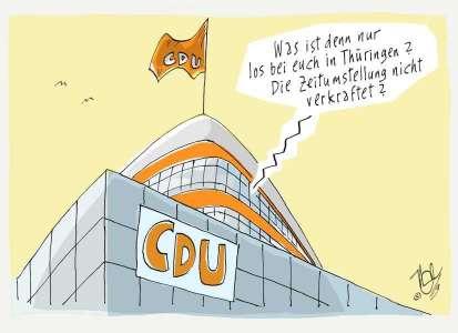 CDU thüringenwahl zeitumstellung