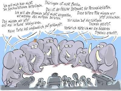 wahlen elefantenrunde sprechblasen