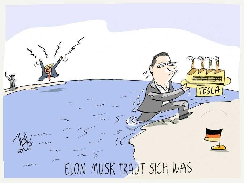 tesla deutschland trump elon musk traut sich was