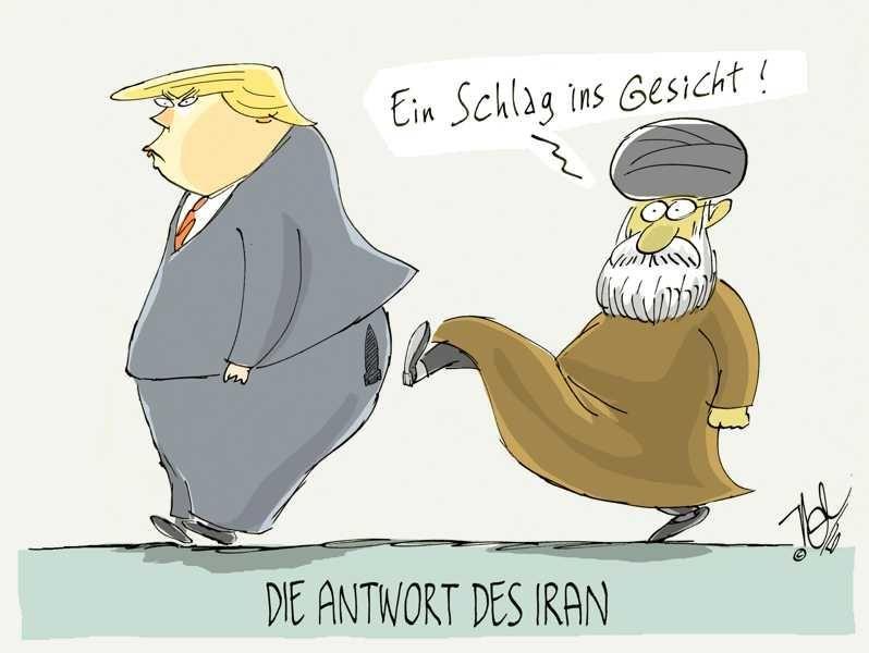 iran krise trump antwort schlag ins gesicht