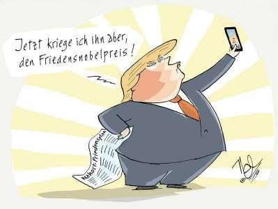 trump nahost friedensplan nobelpreis