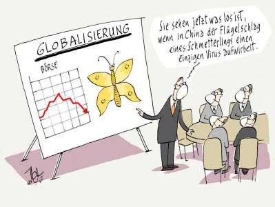 virus corona globalisierung vorteil nachteil schmetterling flügelschlag