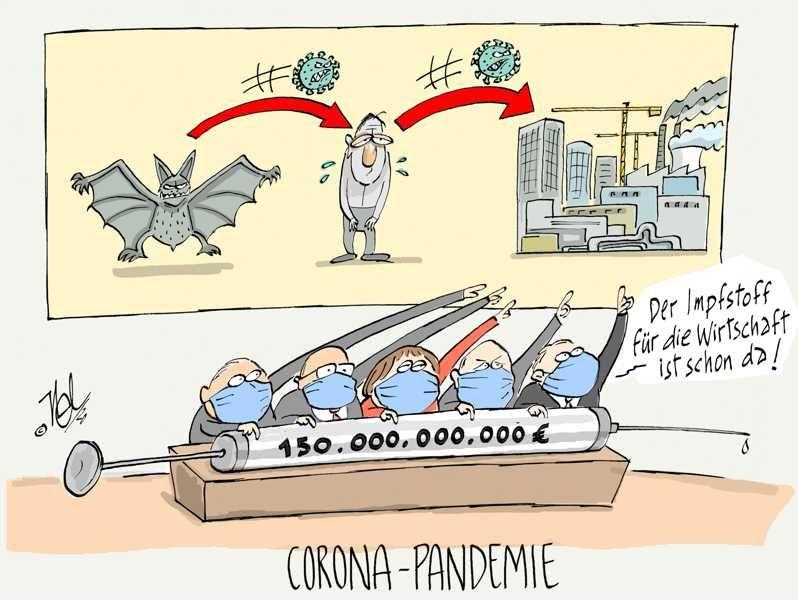 corona virus wirtschaft impfstoff geldspritze