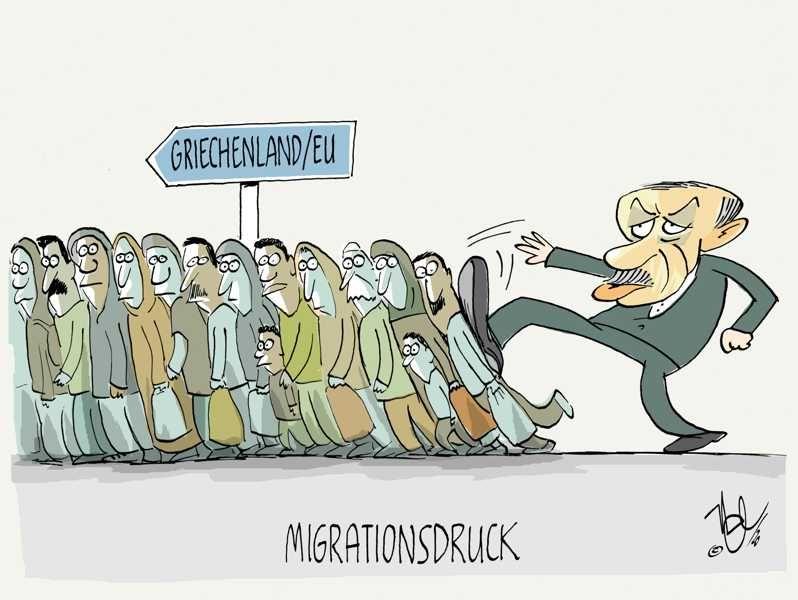 flüchtlingswelle eu griechenland türkei erdogan migrationsdruck
