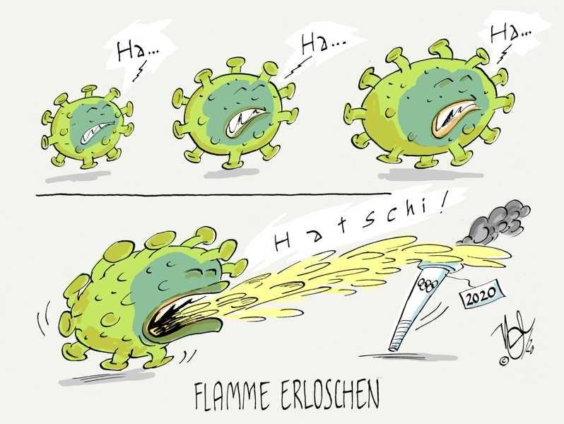 olympia verschiebung virus flamme erloschen