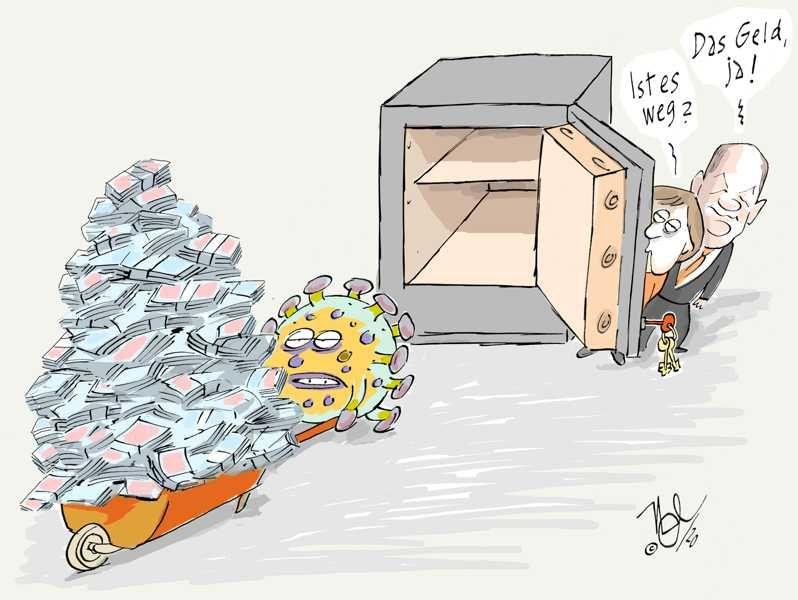 corona pandemie merkel scholz steuerschätzung loch kasse finanzen