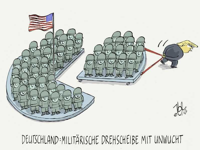 trump deutschland truppenabzug militär drehscheibe