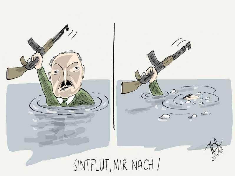 belarus lukaschenko sintflut
