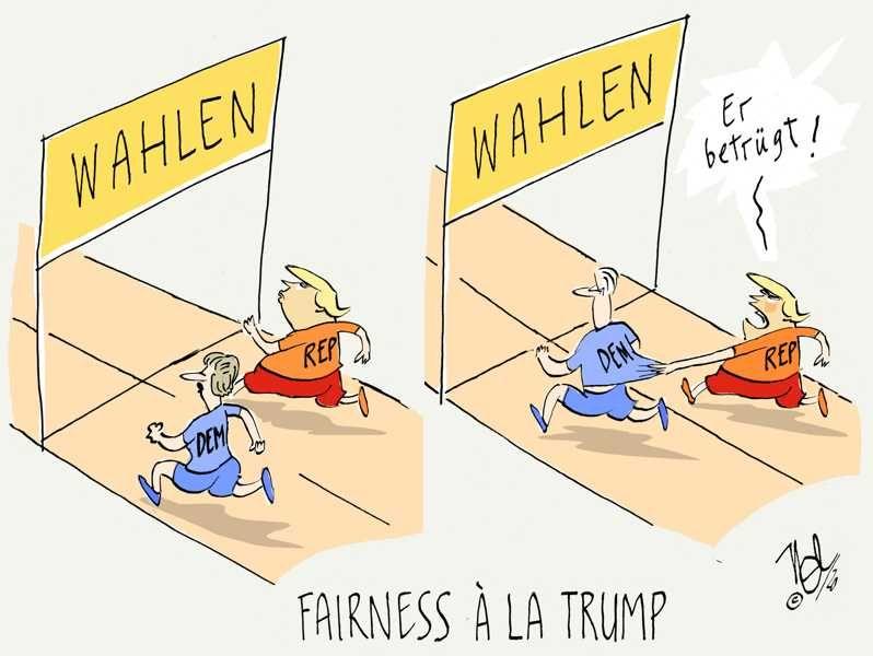 wahlen fairness a la trump