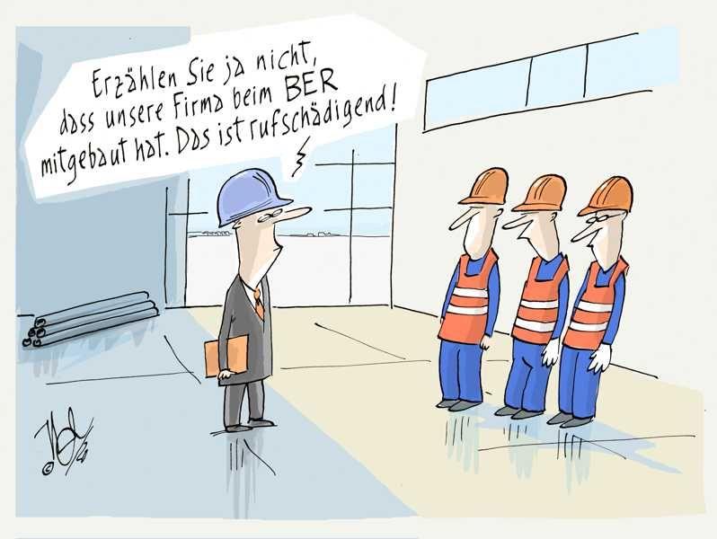 berlin flughafen firma rufschädigend
