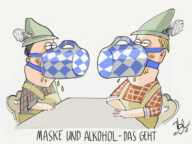 corona bayern maske und alkohol