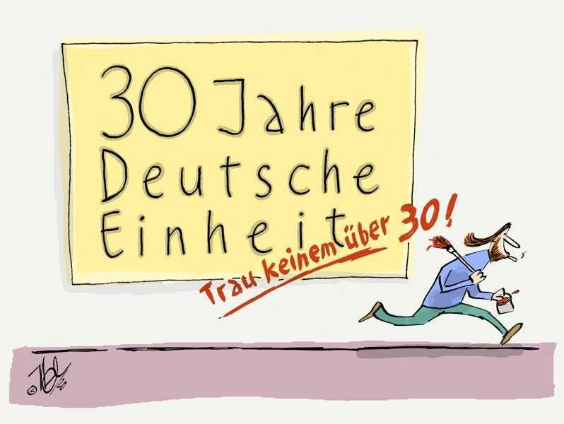 deutsche einheit 3 oktober plakat trau keinem über 30