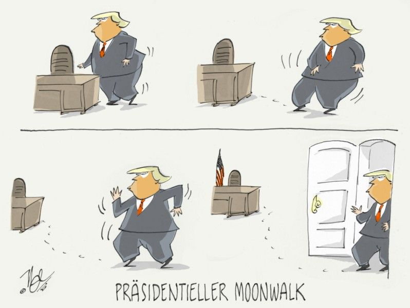 trump abgang presidentieller moonwalk