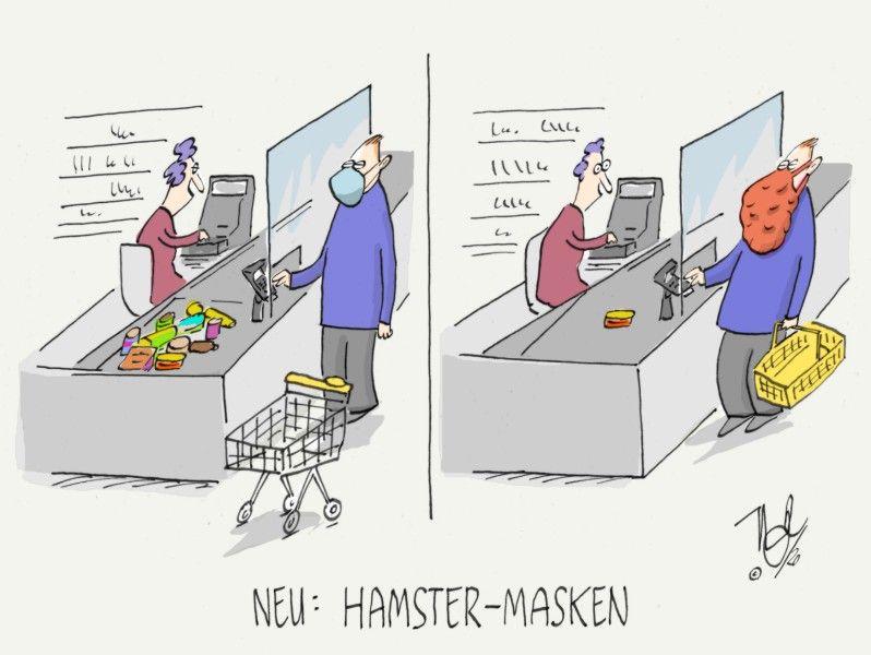 corona hamster masken