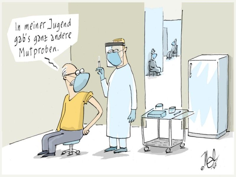 corona impfen mutprobe