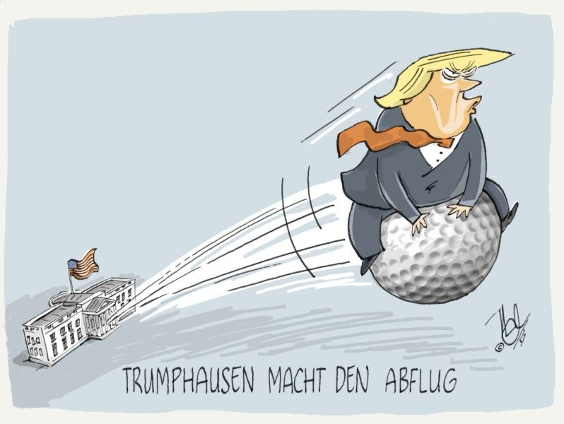 trump weißes haus trumphausen macht den abflug