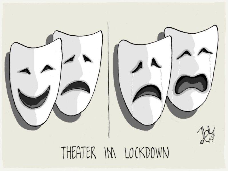 masken tragödie kommödie pandemie theater im lockdown