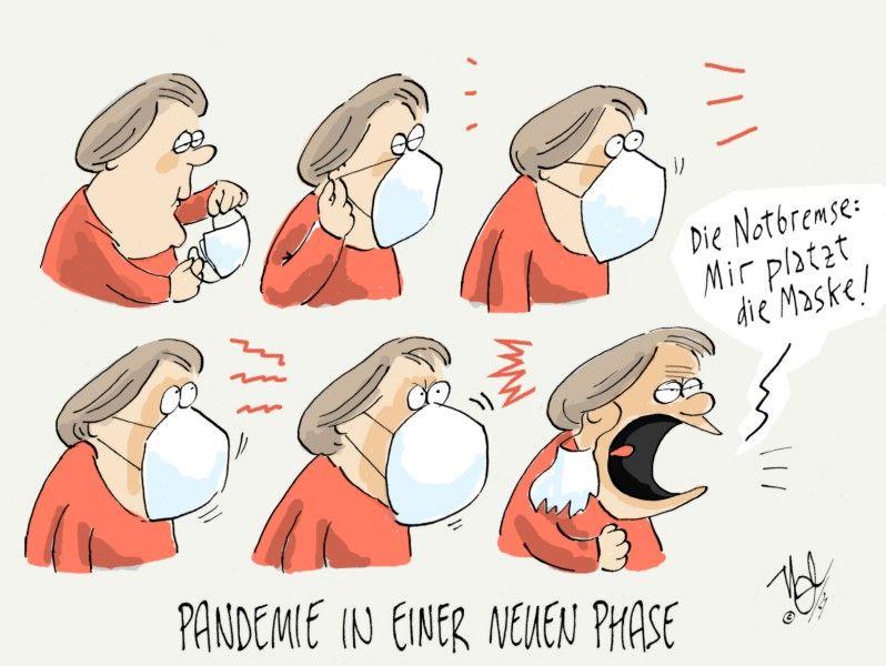 corona pandemie neue phase merkel maske platzt