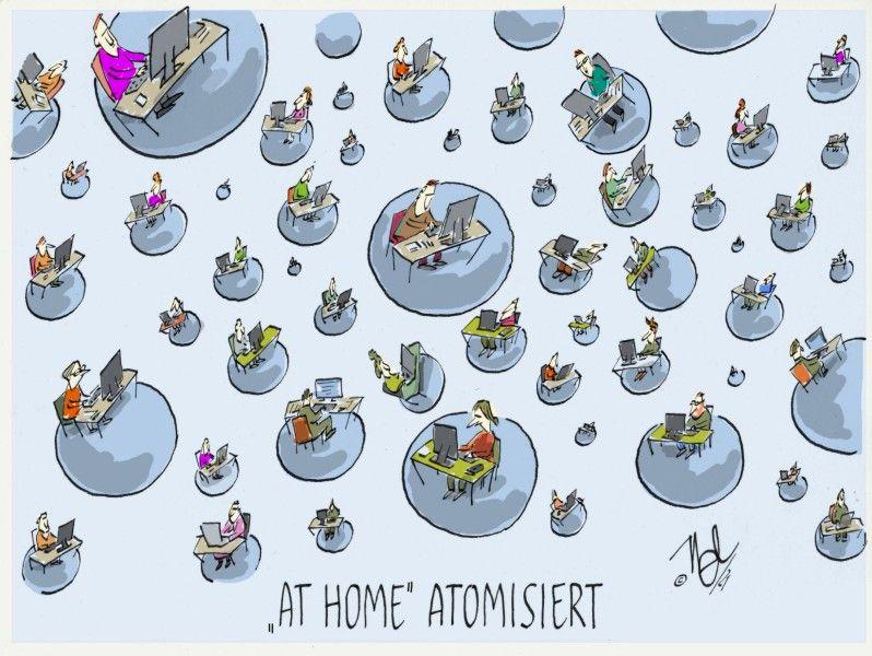 corona pandemie homeoffice at home atomisiert