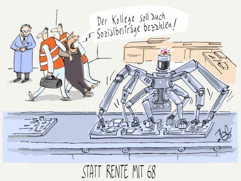 rente reform mit 68 arbeit roboter sozialbeiträge