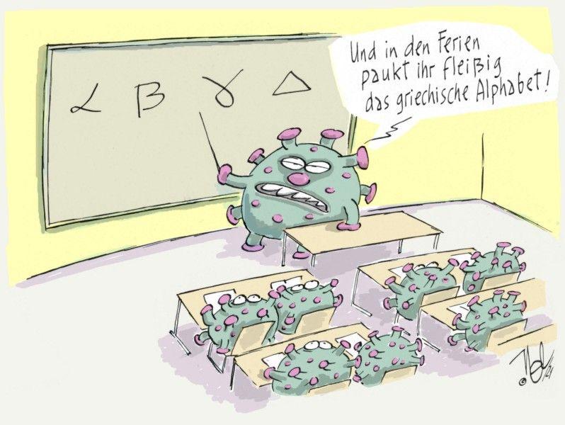 corona pandemie schule mutanten griechisches alphabet ferien pauken