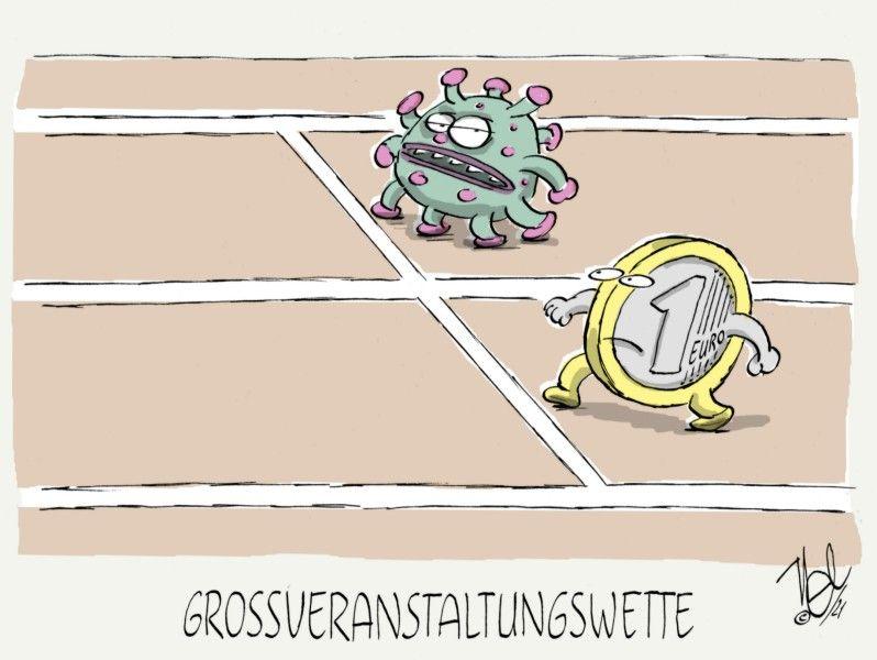 corona pandemie virus geld großveranstaltung wette rennbahn