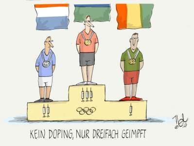 coronapandemie sport olympia doping dreifach geimpft