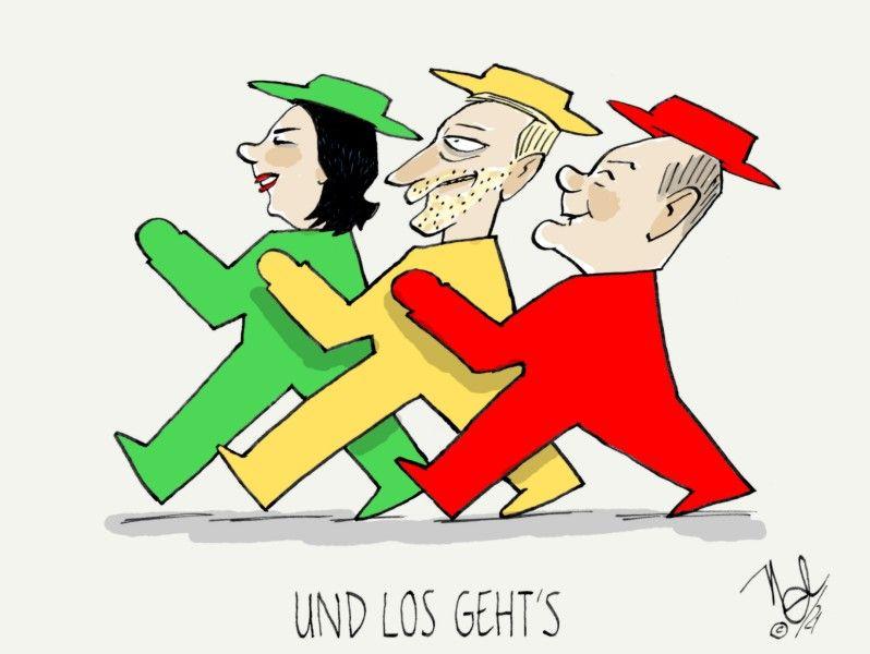 ampelkoalition nach sondierungsgesprächen grünes licht
