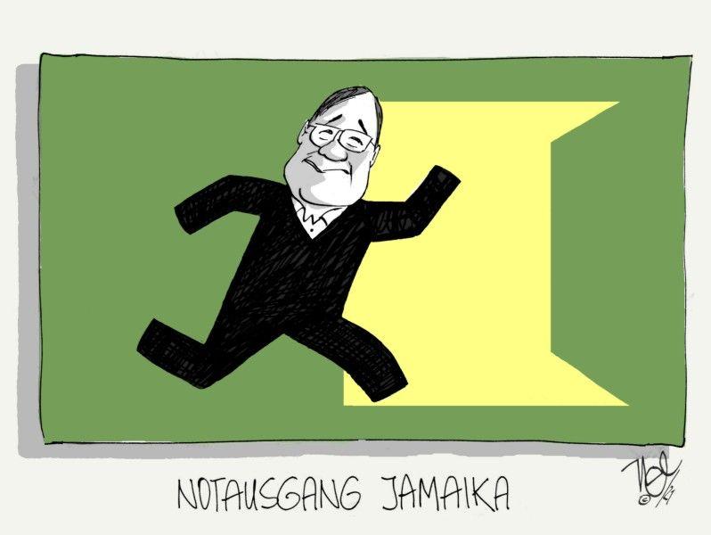 sondierungsgespräche jamaika laschet notausgang